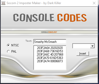 socom2 Imposter Maker Filled In Text