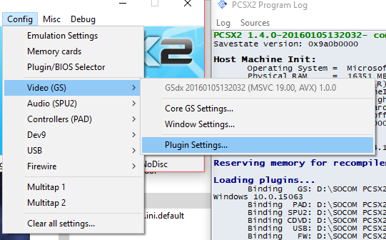 Setting up PCSX2 for Socom 2 and SVDL (Updated) - 1UPsDevelopment com