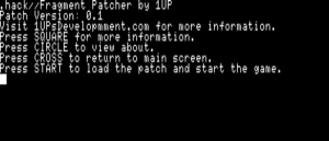 .hack//fragment Patcher